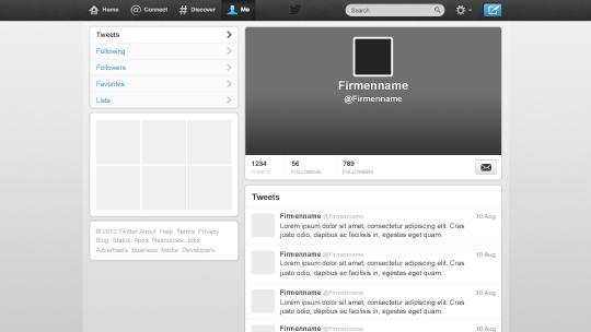 Twitter & Facebook & Google+ Bilder-Kit - Liechtenecker