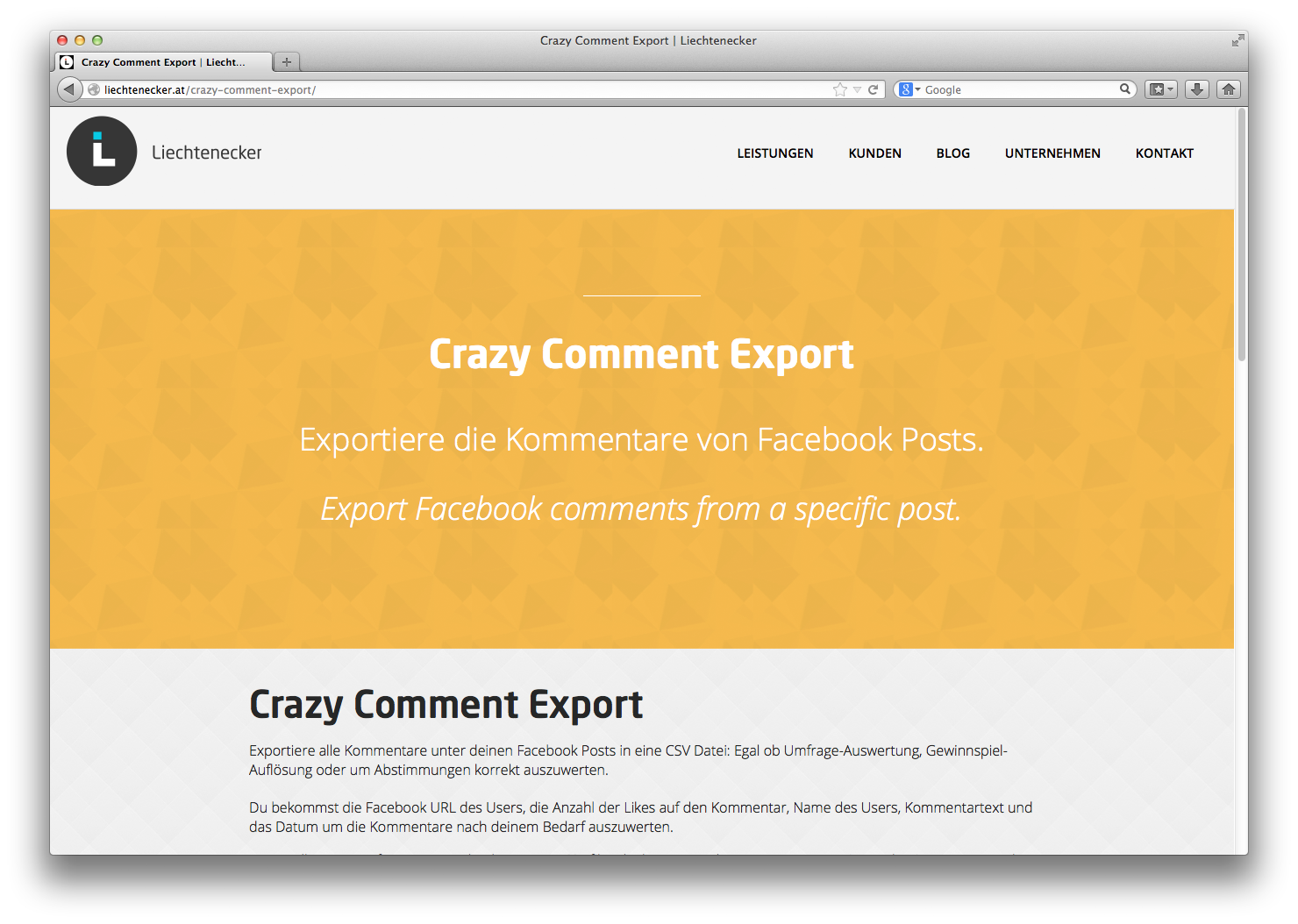 Crazy Comment Export Tool