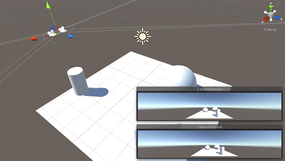 Screenshot from 3D engine showing perspective