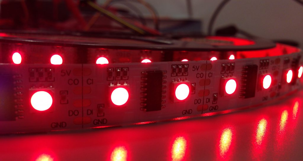 LED strip photo