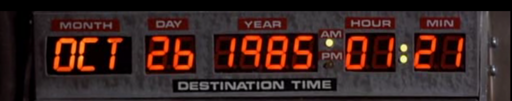 Back to the future display