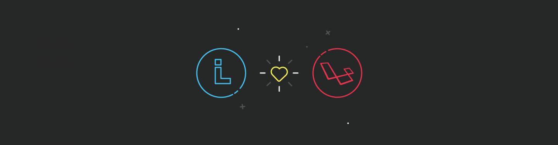 Blog Article Image showing Liechtenecker and Laravel logo