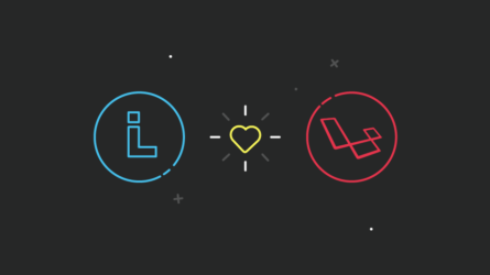 Blog Article Image showing Liechtenecker and Laravel logo