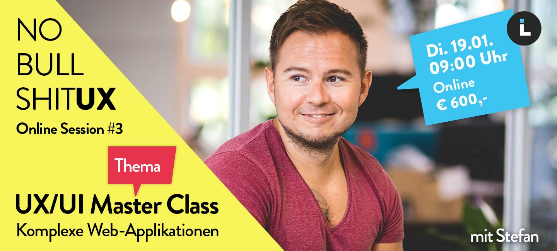Online Session #3 – UX/UI Master  Class: Komplexe Web Applikationen Bild